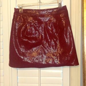Dresses & Skirts - Zara red snakeskin mini skirt new with tags